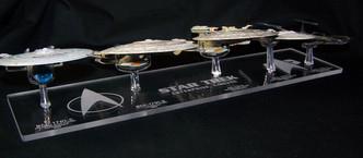 acrylic display base for Eaglemoss Star Trek Enterprise ships C through J