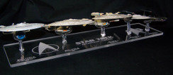 acrylic display base for Eaglemoss Star Trek Enterprise ships C through J