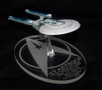 acrylic display stand for Eaglemoss USS Excelsior