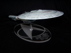 acrylic display base for Eaglemoss Enterprise 1701-D