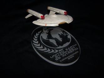 acrylic display base for Eaglemoss SS Intrepid