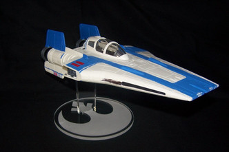 display stand for Hasbro Resistance A-wing fighter