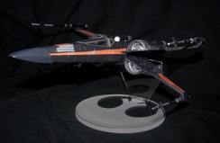 acrylic display stand for Disney Store Poes Boosted X-wing fighter