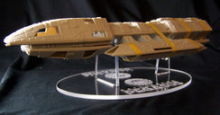 Battlestar Pegasus display stand