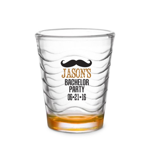 Custom Shot Glass - Moustache (Set of 4)