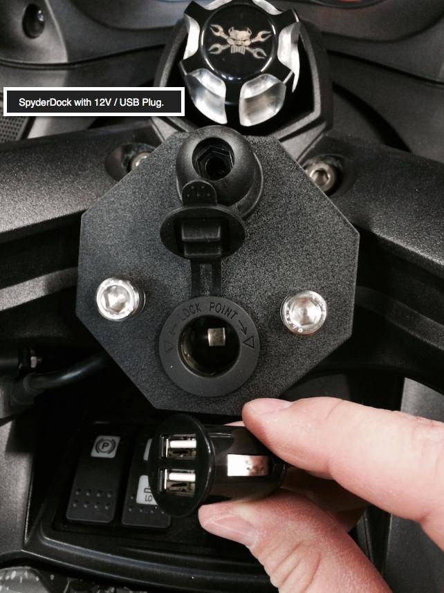 Can Am Spyder Spyderdock With 12v Cig Usb Lg 1084 By