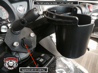 Can-Am Spyder, SpyderDock with Ram Cup Holder (with 12v CIG/USB) (LG-1084-132BU) by Lamonster
