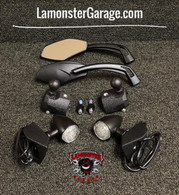 Can-Am Spyder F3 Mirror relocators complete kit with RAM balls-SE6 only (Bright LED Blinkers) (LG-1027X2-0311-1039-2510) by Lamonster. Fits All F3 and F3-S Models