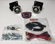 LAMONSTER F3 LED FOG LIGHT AND FOG RING COMBO (LG-3001) (Bright Ryder by Lamonster)