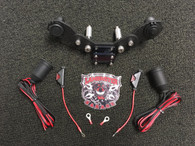 Monster Mount with GPS Swivel and Dual Power Plates - RT Models (LG-3008-1054) Fits ALL Can-Am Spyder RT with stock handlebars. (DOES NOT FIT TRI-AXIS BARS.)