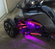 Can-Am Spyder F3 Engine RGB LED Light Kit (TWICE AS MANY LEDS)