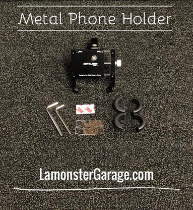 "Lamonster Approved Phone Holder (LGA-4015) Fits ALL Can-Am Spyder F3 Handle Bars. Fits ALL Motorcycle Handle Bars that are (7/8"", 1"", 1 1/8"")"