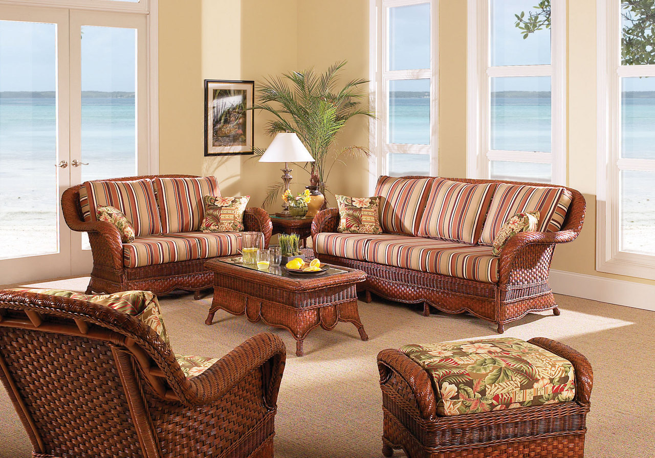 south sea rattan autumn morning indoor wicker living room set modern wicker llc. Black Bedroom Furniture Sets. Home Design Ideas