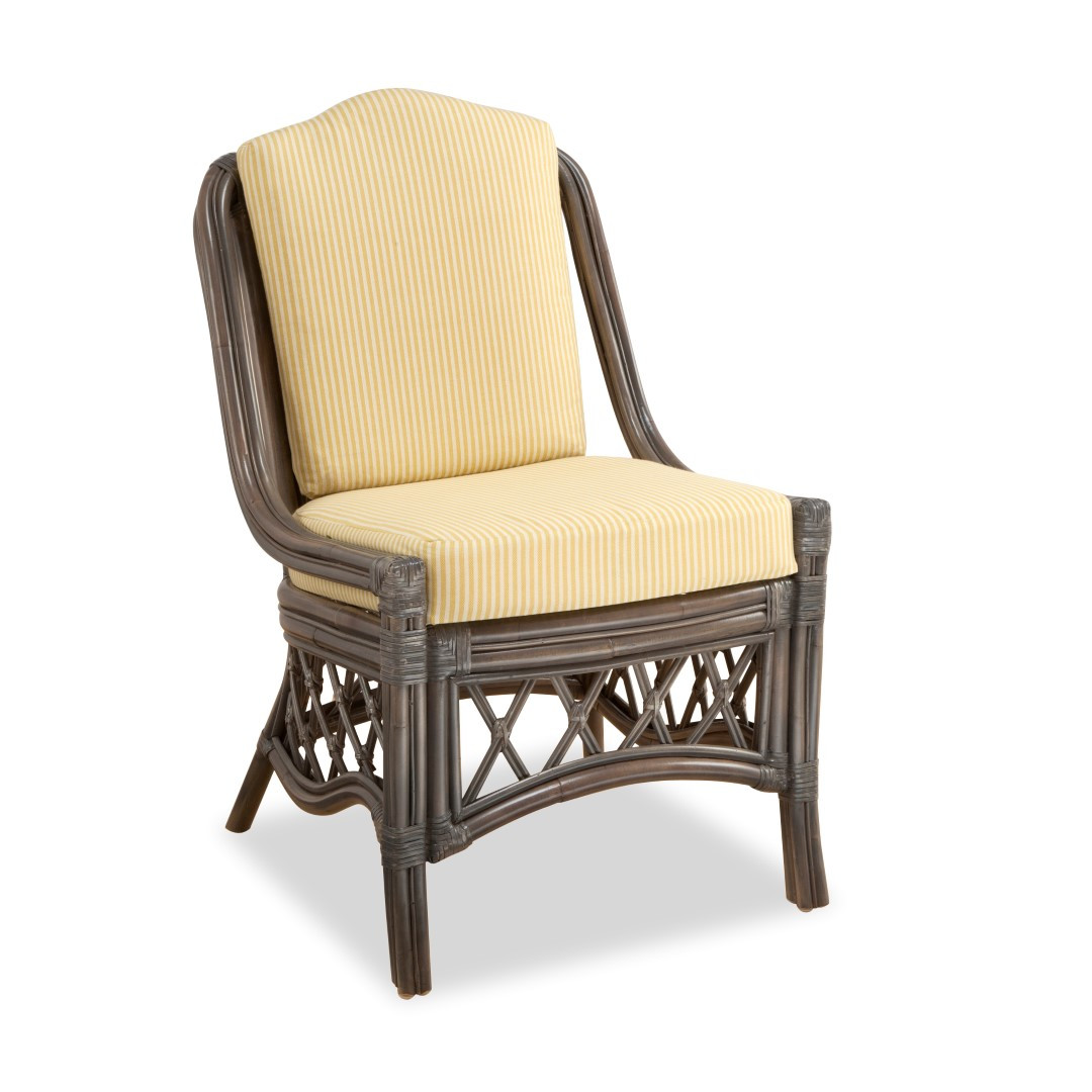 South sea rattan nadine indoor dining side chair modern for Modern wicker dining chairs