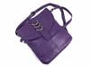 Silver Featured Leather Crossbody Handbag