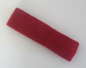 Dark red terry sport headband for sweat