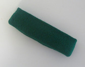 Dark green terry sport headband for sweat