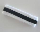 White black white stripe terry tennis headband for sweat