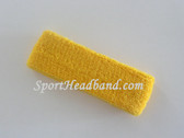 Baby toddler yellow sports headband