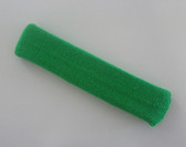 Bright green long sport headband terry cloth for sweat