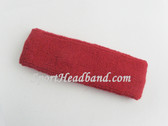 Red Baby Toddler Kids Sport Terry Headband