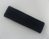 Large black sports sweat headband pro