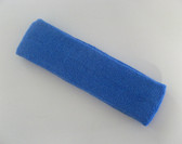 Large cerulean blue sports sweat headband pro