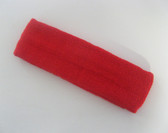 Large red sports sweat headband pro