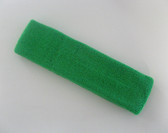 Large bright green sports sweat headband pro