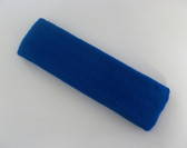Large blue sports sweat headband pro