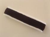 White seal brown white striped tennis headband long terry