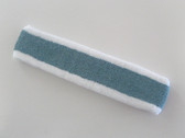 White old-blue viridian white striped tennis headband terry long