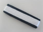White with navy trim headbands sports pro