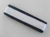 White with navy trim headbands sports pro