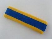 Blue with yellow trim headbands sports pro