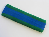 Blue with green trim headbands sports pro