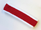 Red with white trim headbands sports pro