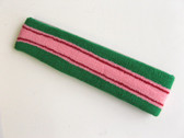 Green pink with red lines basketball headband pro