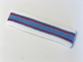 White light blue with red lines basketball headband pro