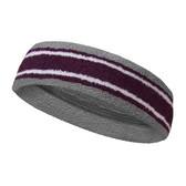 Silver gray purple with white lines basketball headband pro