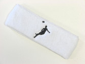 White custom headbands sports sweat terry