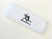 White custom sport sweat headbands terry