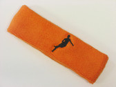 Orange custom headbands sports sweat terry