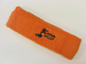 Orange custom sport head band sweat terry
