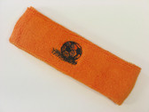 Orange custom sport headbands sweat terry