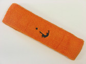 Orange custom head band sports sweat terry