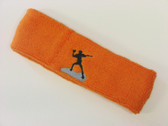 Orange custom sports headband sweat terry