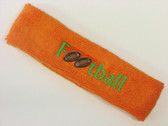 Orange custom terry headbands sports sweat