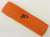 Orange custom sport sweat headband terry