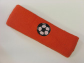 Dark orange custom headband sports sweat terry